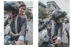 Cực chất với biker đón dâu bằng xe Suzuki Bandit 1200S