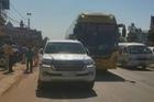 Nghệ An: Toyota Land Cruiser 3,8 tỷ Đồng va chạm cùng xe khách