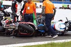 Long An: Kawasaki ZX-10R cùng BMW S1000RR gặp nạn tại trường đua Happy Land