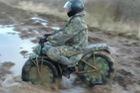 Làm quen với xe mô tô dã chiến có thể tháo lắp gọn gàng của Nga