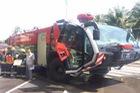 Choáng xe cứu hỏa triệu USD Rosenbauer Panther diễn tập tại Khánh Hòa