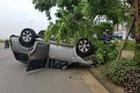 Ninh Bình: Tông vào gốc cây, Ford Everest