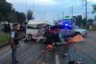 Ô tô chở khách đối đầu xe bán tải tại Thái Lan khiến 2 phụ nữ Việt thiệt mạng