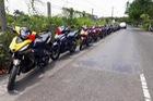 Gần 20 chiếc Honda Winner 150 tham gia rước dâu tại Bạc Liêu