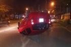 Hà Nội: Tài xế chạy tốc độ cao, mất lái, Kia Morning