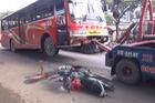 TP. HCM: Va chạm với xe khách, chồng bị thương, vợ tử vong tại chỗ