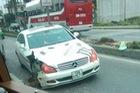 Mercedes-Benz CLS gặp nạn tại Hải Phòng