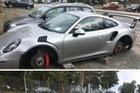 Siêu xe Porsche 911 GT3 RS bị ăn trộm bánh xe khi đỗ qua đêm