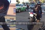 Lính hải quân lái môtô vượt đèn đỏ, đe dọa phụ nữ