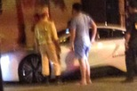 Hà Nội: BMW i8 màu trắng bị lực lượng 141 dừng lại để kiểm tra