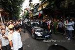 Cặp đôi Mercedes-Benz S600 Pullman Guard đón đưa tổng thống Pháp tại Hà Nội