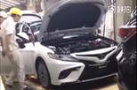 Sedan cỡ trung Toyota Camry 2018 lộ diện trong nhà máy ở châu Á