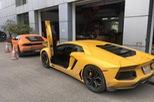 """Cặp đôi siêu xe Lamborghini 39 tỷ Đồng được vận chuyển """"về quê"""" ăn Tết"""