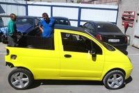 Thợ Nga tự chế Daewoo Matiz thành xe bán tải