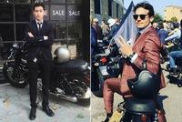 Mặc suit đi motor: Một phong cách vừa