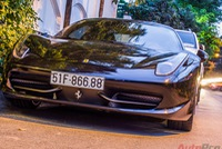 Ferrari 458 đen độc nhất Sài Gòn mang biển lộc phát dạo phố