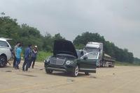 Choáng bộ áo màu xanh lục của chiếc Bentley Bentayga xuất hiện ở Sơn Tây