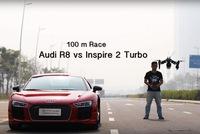 Đua drag với flycam, Audi R8 thua