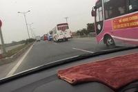 Gần 100 xe khách ra Hà Nội phản đối phân tuyến