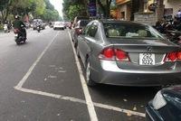 Vì sao Hà Nội 'xóa sổ' bãi đỗ xe chéo ở hai phố lớn? Xã hội