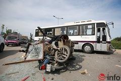 Xe thương binh chạy ngược chiều gây tai nạn liên hoàn