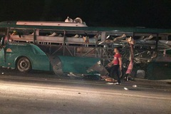 Xe khách Ka Long phát nổ ở Bắc Ninh