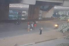 Nam công nhân tuyến đường sắt Cát Linh - Hà Đông bị thương là do xe máy đâm trúng