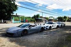 """Vẻ đẹp bộ 3 siêu xe """"khủng"""" xuất hiện cùng nhau tại Gò Công"""