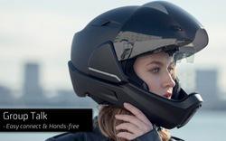 CrossHelmet X1: Mũ bảo hiểm thông mình có màn hình cảnh báo và camera chiếu hậu