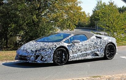 Lamborghini Huracan Spyder facelift ra mắt năm sau bất ngờ lộ diện