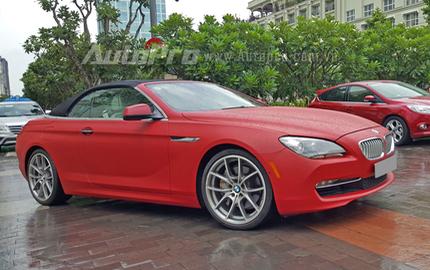 BMW 650i mui trần màu độc của Phan Thành dạo phố