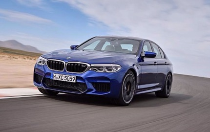 """Xe hiệu suất cao BMW M5 2018 """"hiện nguyên hình"""" trước giờ ra mắt"""