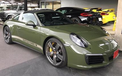 Đây là chiếc Porsche 911 Targa 4S màu xanh ô liu khiến chủ xe phải chờ đợi suốt 1,5 năm