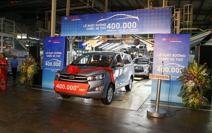 Toyota đã sản xuất 400 ngàn xe ô tô tại Việt Nam
