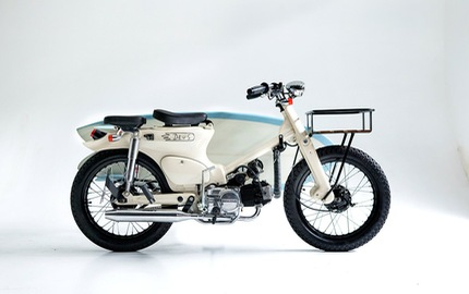 Làm quen với chiếc Honda Super Cub độ với cảm hứng từ xe đạp
