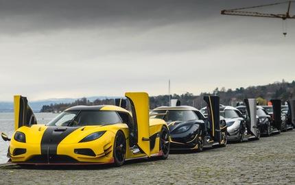 """Xem 7 chiếc siêu xe Koenigsegg """"đồng thanh"""" khoe """"tiếng thở"""" tại Thụy Sĩ"""