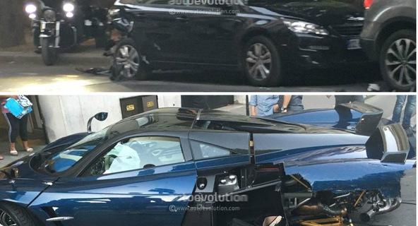 Hé lộ nguyên nhân Pagani Huayra Pearl tai nạn: Tài xế mất lái, va chạm với xe đang đỗ
