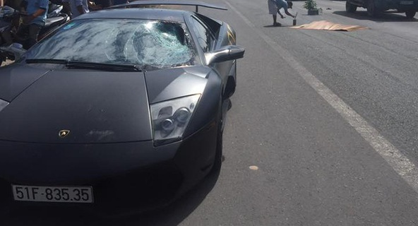Nghi vấn Lamborghini Murcielago LP670-4 SV tông chết người mang biển số giả
