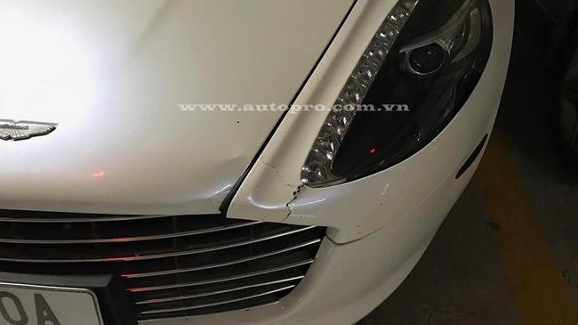 Nghi vấn Aston Martin Rapide S của đại gia Ninh Bình gặp nạn