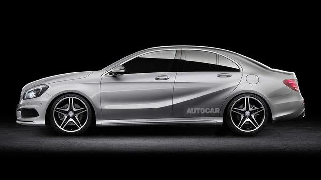 "Mercedes-Benz ""thai nghén"" A-Class Sedan để cạnh tranh với BMW 1-Series Sedan"