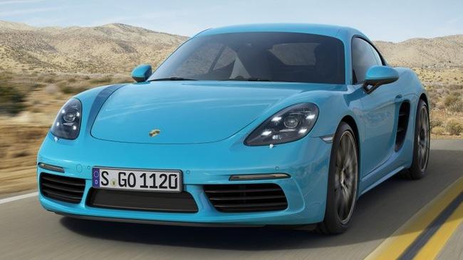 Porsche 718 Cayman: Mạnh mẽ và tiết kiệm xăng hơn