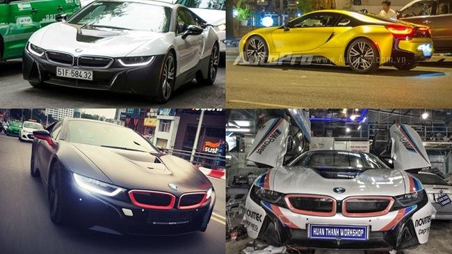 Bộ sưu tập BMW i8 màu lạ tại thị trường Việt Nam