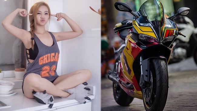 Ducati 959 Panigale khoác áo Iron Man của nữ biker 9X Sài thành