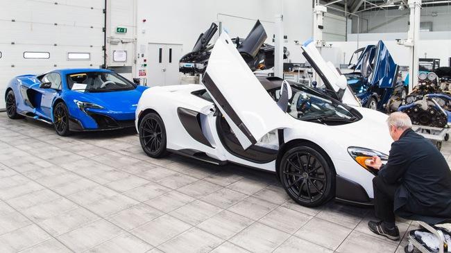 Bên trong xưởng sản xuất siêu xe bí mật của McLaren
