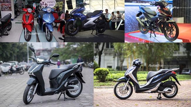 5 mẫu xe máy gây sóng gió thị trường Việt trong năm 2016