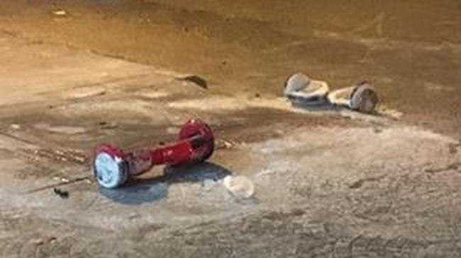Xe điện cân bằng phát nổ kinh hoàng tại Sài thành