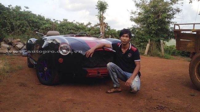 """Từ xe nát giá 70 triệu, thợ Đắk Nông cho ra đời """"siêu phẩm"""" Shelby Cobra 427"""