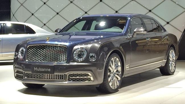 Xe siêu sang Bentley Mulsanne phiên bản vàng ra mắt nhà giàu Trung Quốc