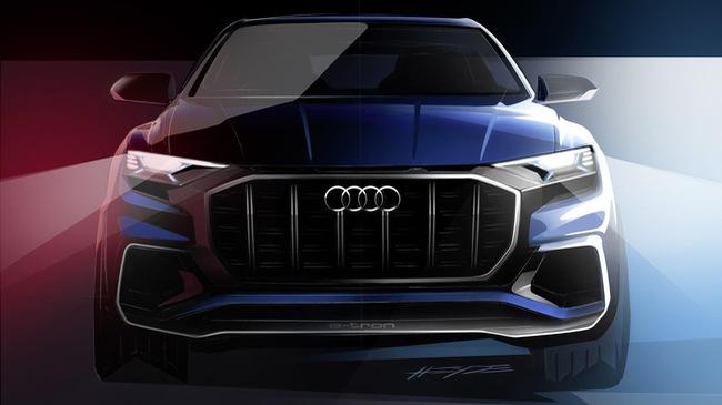 SUV hạng sang Audi Q8 E-tron cạnh tranh với BMW X6 tiếp tục được hé lộ