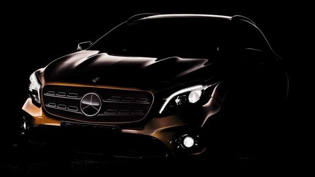 Crossover hạng sang Mercedes-Benz GLA 2017 được hé lộ với đầu xe mới